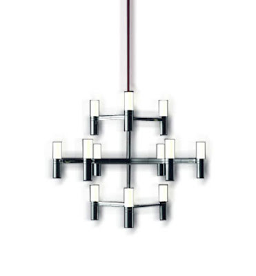 The Nemo Crown Minor Pendant Light, 12 lights suspension lamp by Nemo Cassina - Nemo CROHLW51