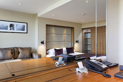 Application of the Illuma Conceal in hotel rooms and offices, concealed LED striplights