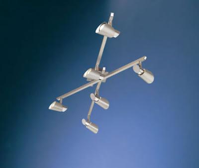 Skip1 87938 Ceiling Light - Skip 1 Six Spotlights Wall / Ceiling lamp, stylish six spotlights on 3 bars