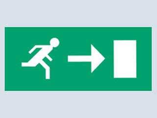 Emergency Lighting XLPAR - Exit Box Pictogram Arrow Right For XLS8M3FN