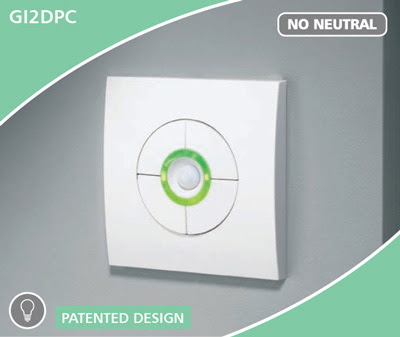 The CP Electronics GI2DPC - Green-I Double Dimmer with Presence Detection, 60-150W 2G dimmer switch with PIR
