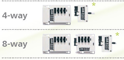 The Vitesse Modular 4 way and 8 way - Connection Units for non-dimming luminaires
