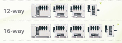 The Vitesse Modular 12 way and 16 way - Simple Connection Units for switching luminaires