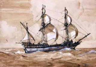 Barco corsario ingles Sir Franzis Drake