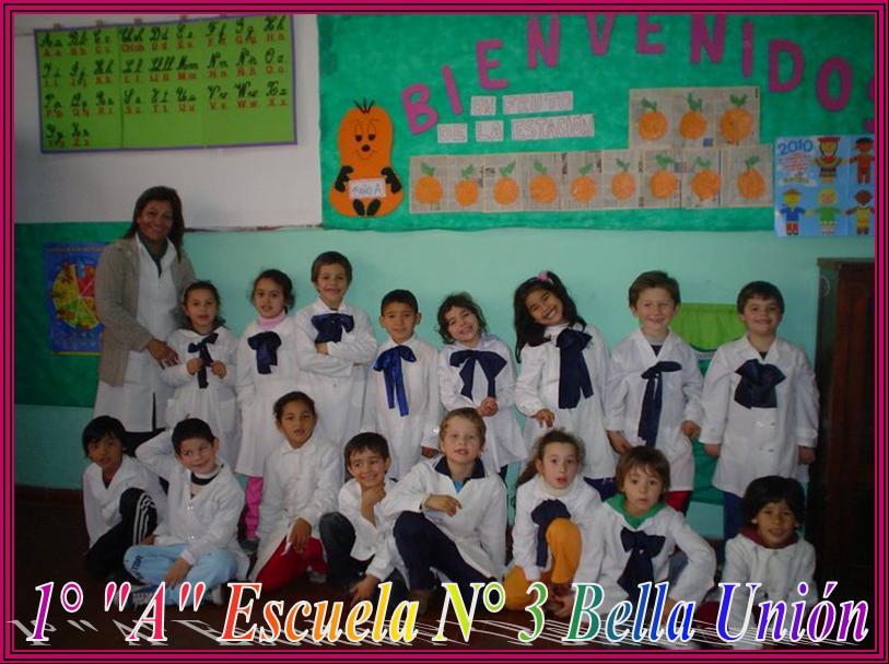 Primer año A. Escuela N° 3 Bella Unión