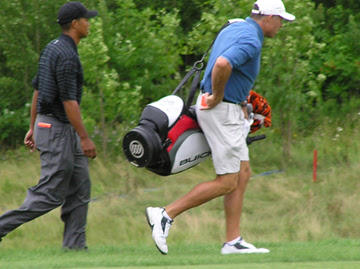 Yes, I took some time to follow Tiger. No, he wasn't the focus of my week.