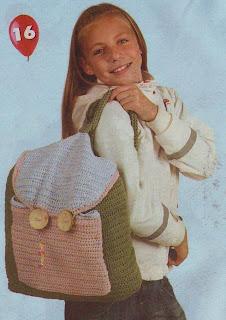 вязание, рюкзак, рукоделие для девочек
