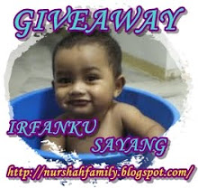 GIVE AWAY IRFANKU SAYANG...