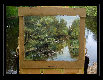 plein air painting oil landscape cobra water mixable oil paint