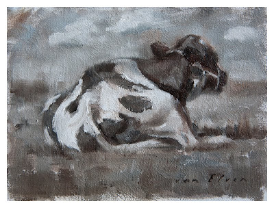 cow oil painting olieverf