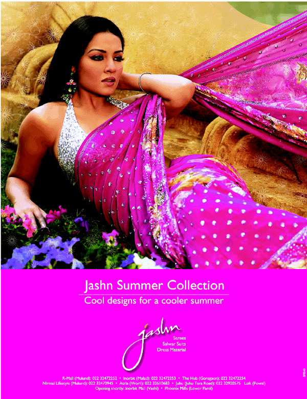 Celina Jaitley Hot Saree Advertisement for Jashn Summer Collection:bollywood,dress for girls0