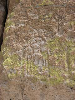 Petroglyph at Tsankawi, Bandelier