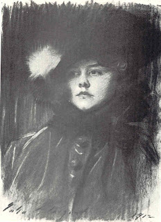 Charcoal of Helen Sears by John Singer Sargent