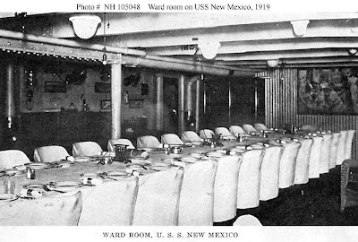 USS New Mexico ward room 1919