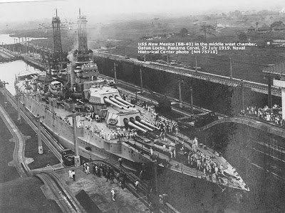 USS New Mexico, Panama Canal 1919