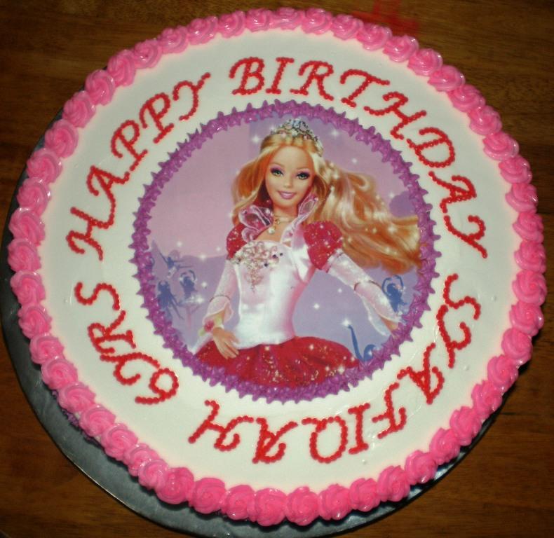 Edible Cake Images Barbie : sugar4sugar: Barbie edible image cake