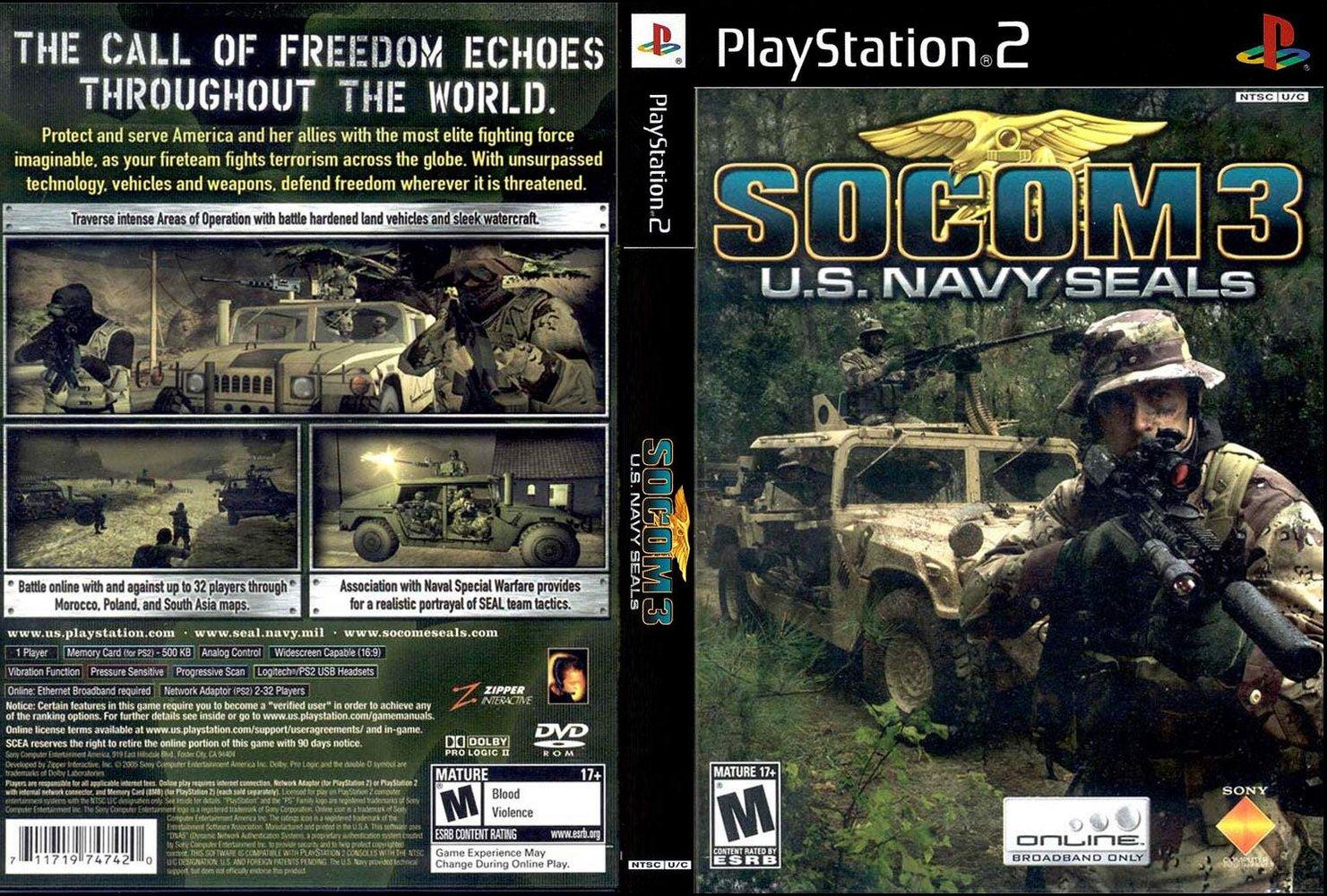 SOCOM 3: U.S. Navy SEALs   PS2