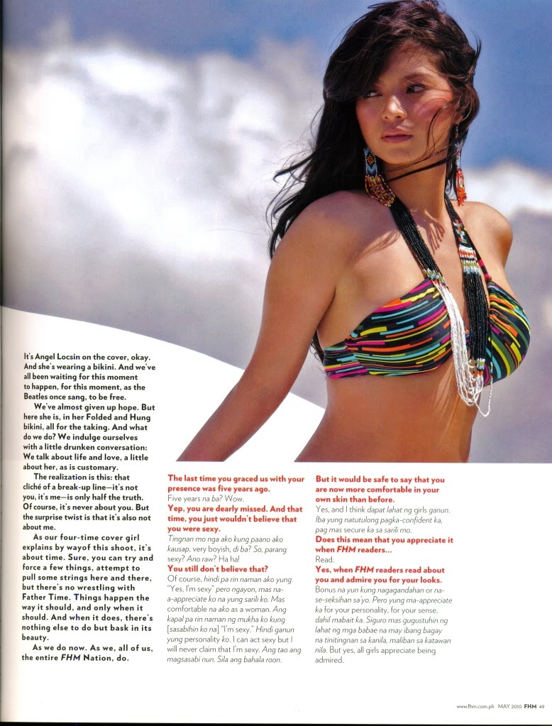 Angel Locsin's Fhm May 2010 issue Complete Photo's