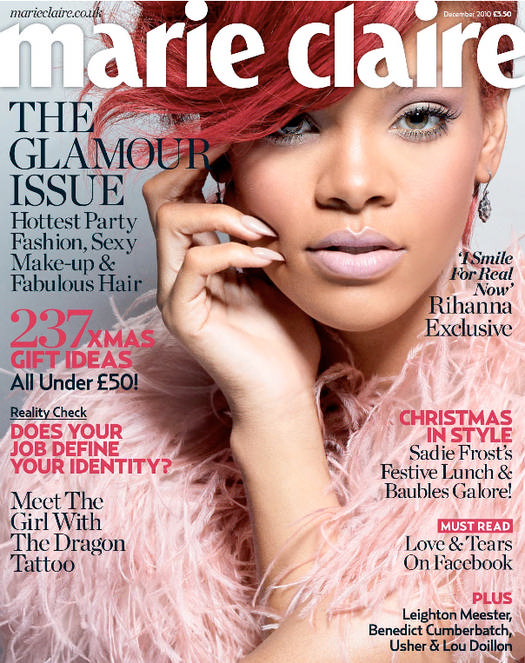 Rihanna On Marie Claire Magazine Cover Page