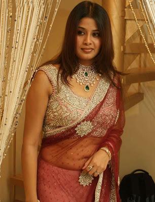 Tamil actress Sangeetha in transparent saree photos
