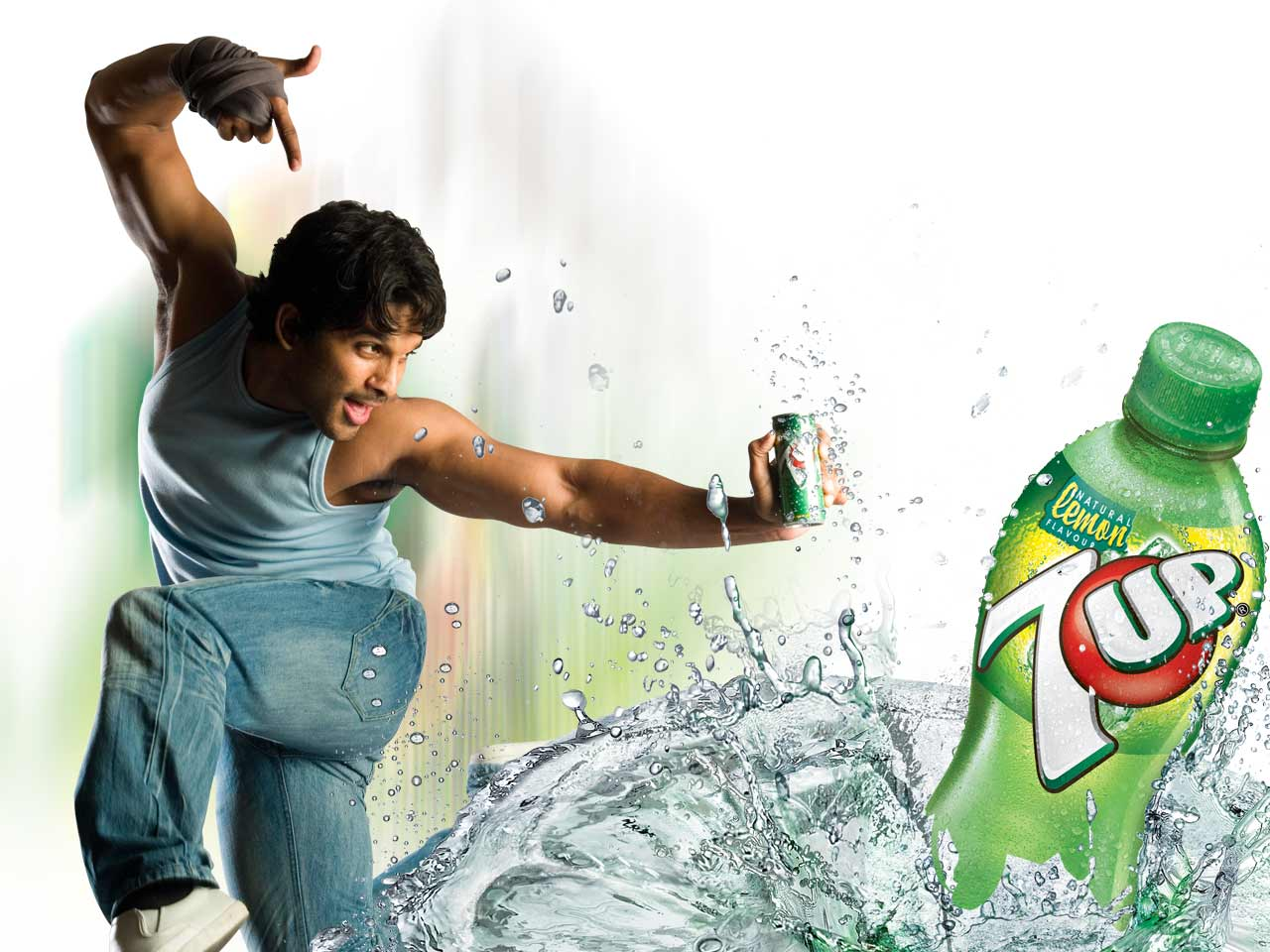 Allu Arjun In 7up Adver  Photos And Video  Telugu Hot And