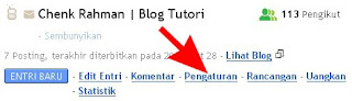 Cara Setting Blog di Blogger