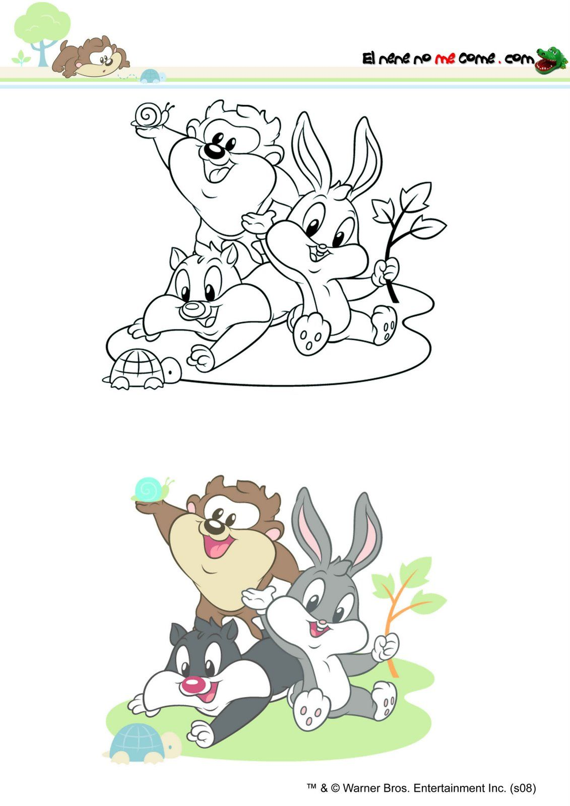 Tapete Baby Looney Tunes : Baby Looney Tunes Bugs Bunny