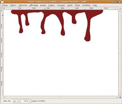 arrondir coulure tache de sang
