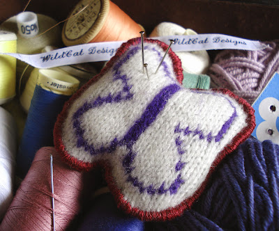 Felted Butterfly Pincushion