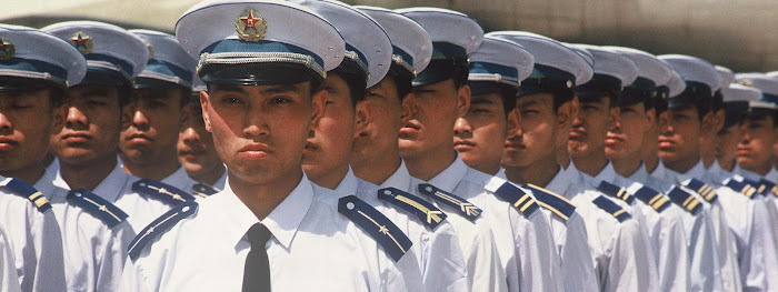 Chinese Air Force Airmen in formation