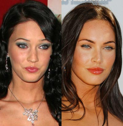 pics of megan fox without makeup. megan fox makeup how to.