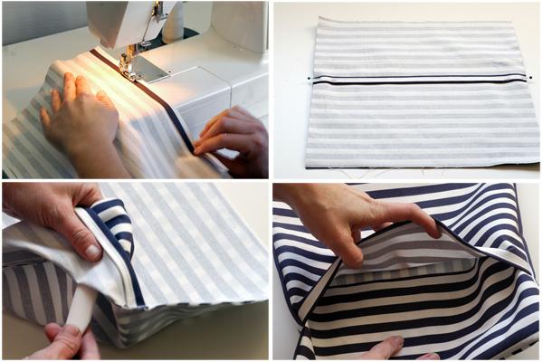 Как из футболки сшить подушку 56