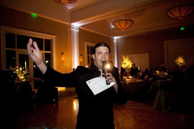 Wedding MC and DJ Colby Logan at the Belo Mansion