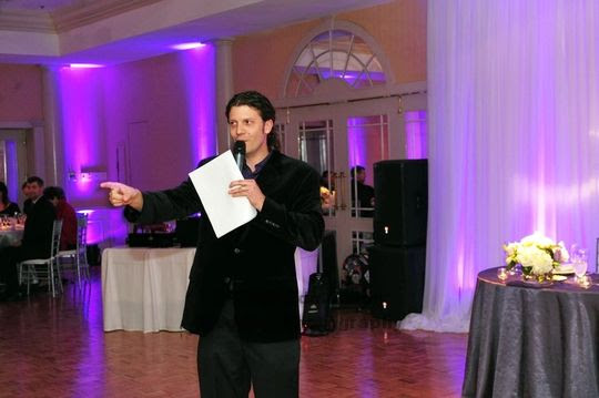 Wedding MC and DJ Colby Logan at the Northwood Club in Dallas