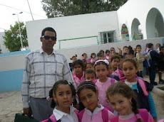 Si Mounir avec sa première année!