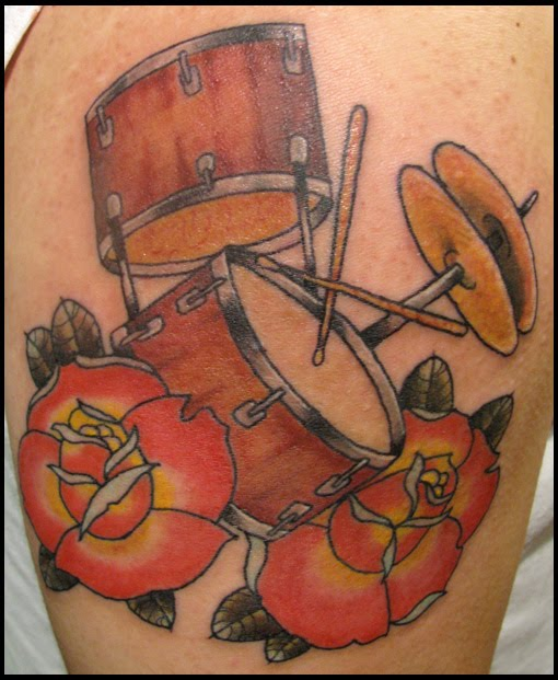 wanting to do his first tattoo. all he knew was that he wanted a drum in