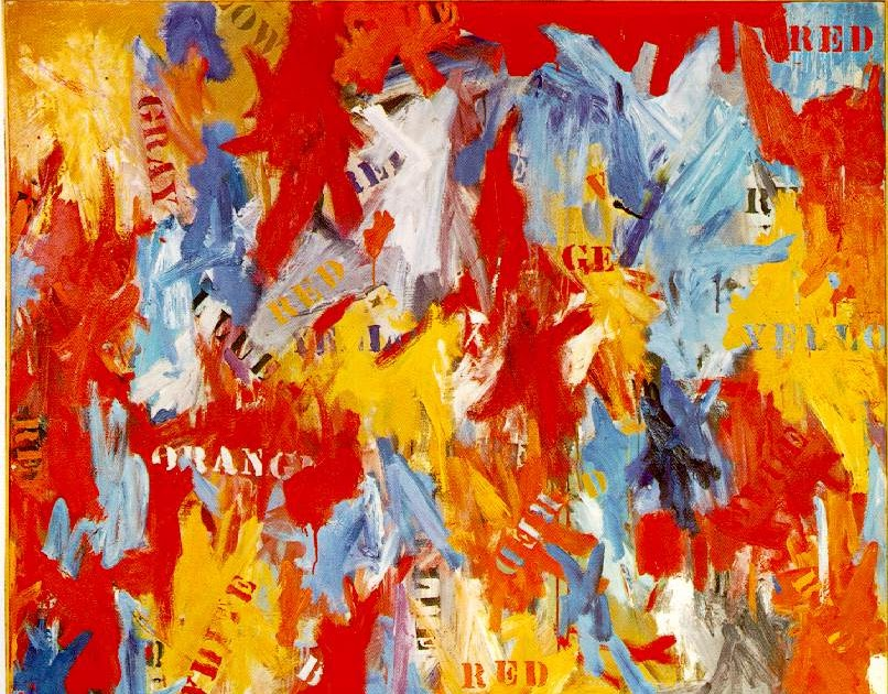 the famous painting false start by jasper johns