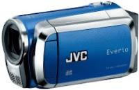 JVC Everio MS120 Dual Flash Camcorder (Blue)