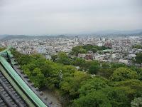 天守閣より眺めた和歌山市内