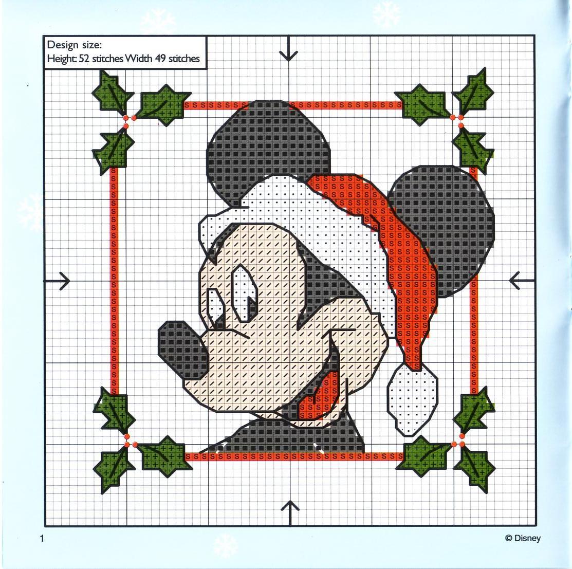Grafico Ponto Cruz   Mickey E Sua Turma