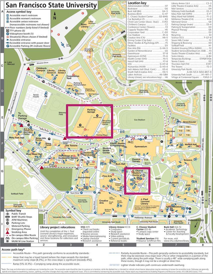 Santa Clara University Campus Map Santa Clara University Campus