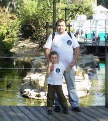 Aqui, con mi hijo Endika