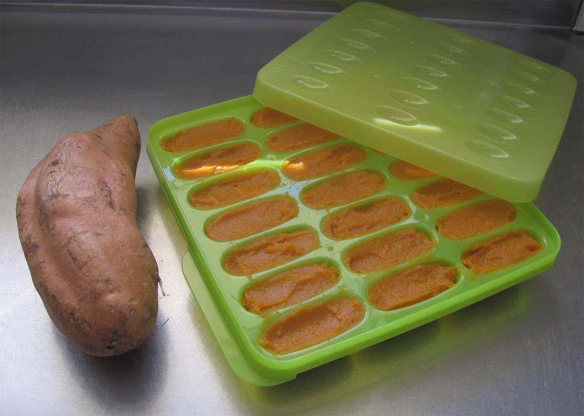 Simply the best baby food freezing trays: Recipe for Kumara baby puree