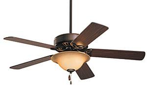 Emerson Fans CF712ORB Pro Series Ceiling Fan Oil Rubbed Bronze With Dark Cherry / Medium Oak Blades