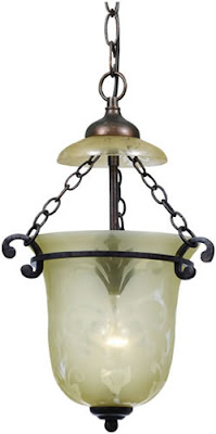 Crystorama 5761-BU Bell Jar Pendant Light Bronze Umber with Top Accent