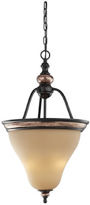 Sea Gull 51590-844 Brixham 3 Light Hall / Foyer Rustic Bronze With Copper Highlights