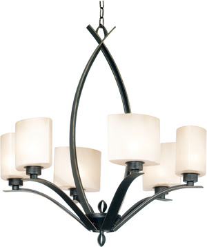 Kenroy 91266OBZ Pisces 6 Light Chandelier