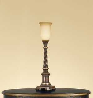 Murray Feiss 9610AUB Claremonte Table Torchiere Autumn Brown