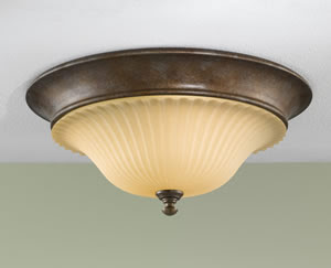 Murray Feiss FM278BRB Somerset 3 Light Flush Mount Ceiling Fixture British Bronze