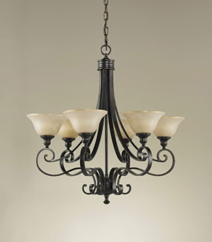 Murray Feiss F2187/6LBR Cervantes 6 Light Chandelier Liberty Bronze